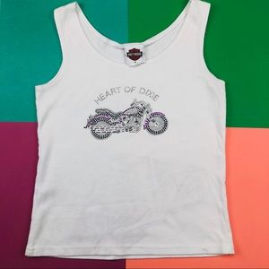 Harley Davidson Heart Of Dixie Cropped Tank Top